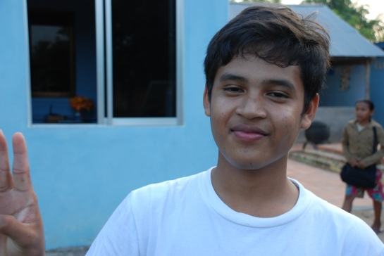 A student I spoke with at Savong's School Cambodia